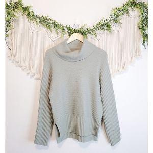 ANTHROPOLOGIE MOTH Sage Pischasio Green Knit Long Sleeve Cowl Neck Sweater S